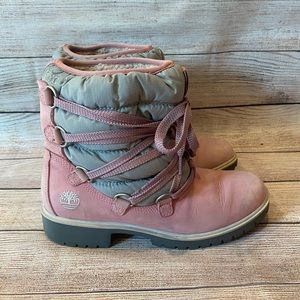 Timberland Leather Snow Boots with ties 650 Size 7